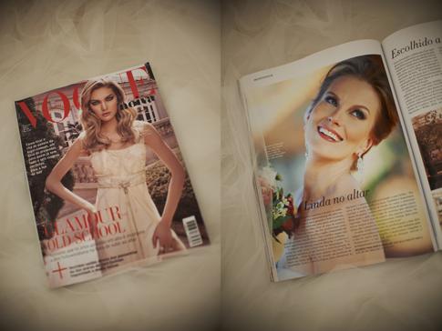 Não mudando de assunto, vamos falar de Vogue Noivas, Caroline e Charlotte.