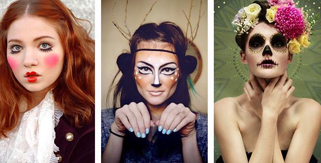 Quem disse que precisa de roupas elaboradas? Invista na maquiagem Boneca – Cervo – Catrina (caveira mexicana)